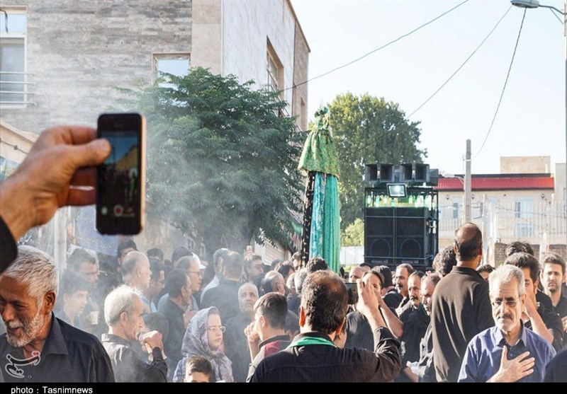 مراسم کهن چند 100 ساله علمبندان در شهرستان محلات به روایت تصویر