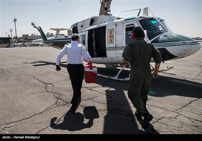 ساعت ۱۱:۱۶ دقیقه است که قلب سجاد به بالگرد میرسد. تیم به همراه قلب به سمت بیمارستان شهید رجایی تهران حرکت میکنند.