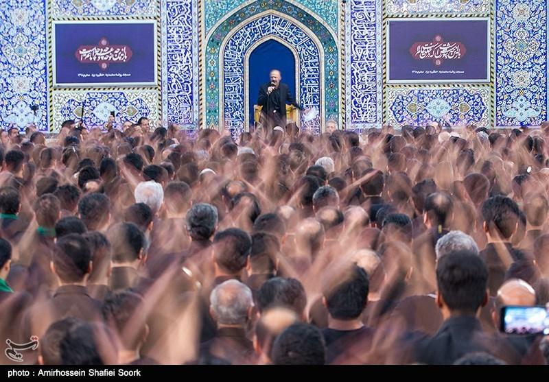 مداحی سعید میرزایی در مراسم عزاداری عاشورای حسینی در مسجد حظیره یزد
