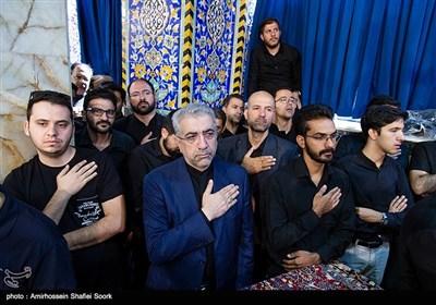 رضا اردکانیان وزیر نیرو در مراسم عزاداری عاشورای حسینی در مسجد حظیره یزد