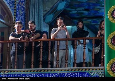 حضور گردشگران خارجی در مراسم عزاداری عاشورای حسینی در مسجد حظیره یزد