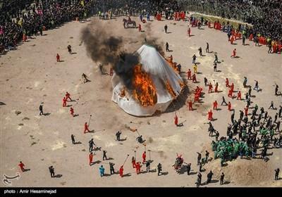 آتش زدن خیمه ها در ظهر عاشورا - قم
