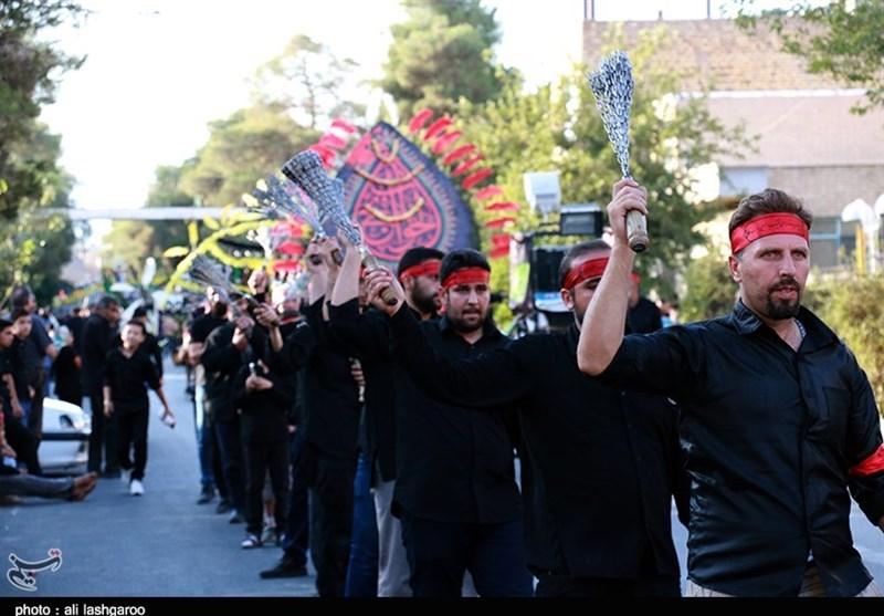 آئین دسته روی مردم سمنان در روز عاشورا به روایت تصویر