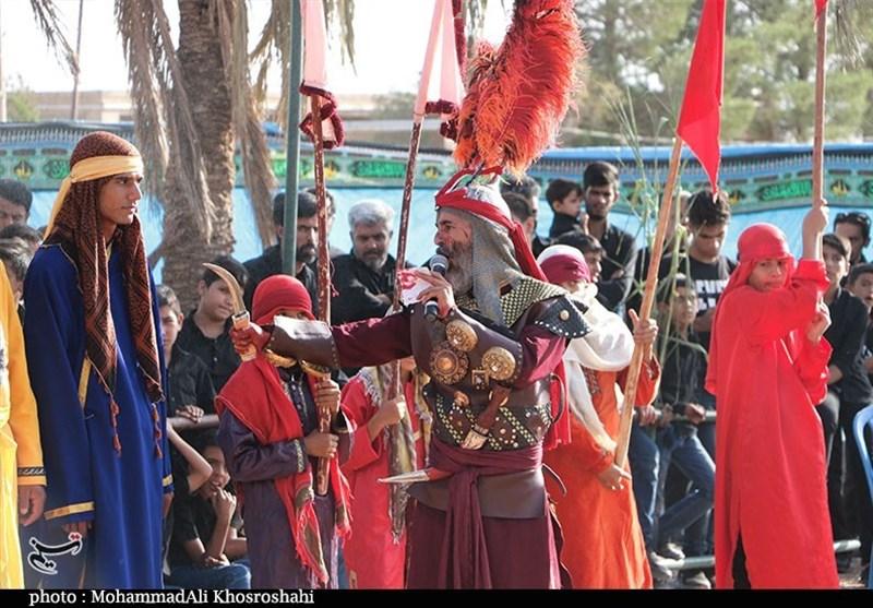 بازسازی واقعه عاشورا در دهزیار کرمان به روایت تصویر