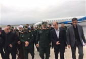 فرمانده کل سپاه برای بازدید از روند بازسازی مناطق سیلزده وارد استان گلستان شد