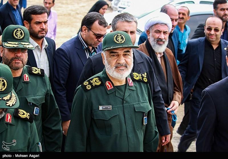 فرمانده کل سپاه از روند ساخت سد نرماب بازدید کرد+فیلم و عکس