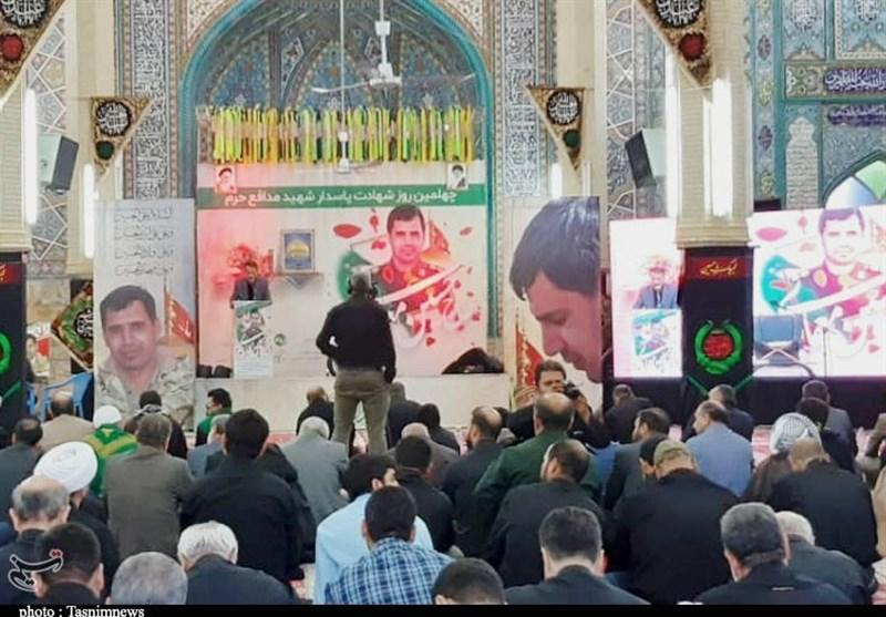 اربعین شهید معماری در اهواز برگزار شد + تصویر