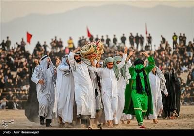"""إعادة تجسيد واقعة عاشوراء في """"نوش آباد"""" كاشان"""