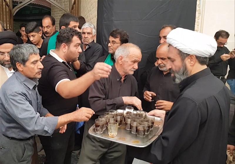 """پذیرایی روحانیون از عزاداران حسینی در حسینیه """"ایران"""" یزدیها + فیلم"""