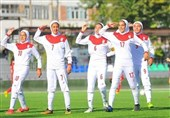 پیروزی دختران نوجوان فوتبال ایران برابر تاجیکستان