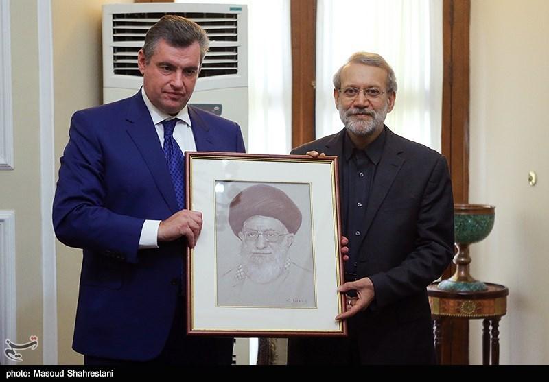 رییس کمیته امور بین الملل دومای روسیه و علی لاریجانی رئیس مجلس شورای اسلامی