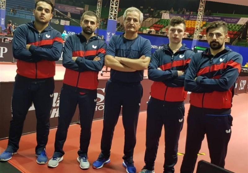 تنیس روی میز قهرمانی آسیا  شکست تیم مردان ایران مقابل هنگکنگ