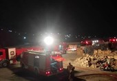 تهران| تلف شدن چندین رأس دام در آتشسوزی گسترده انبار جعبه