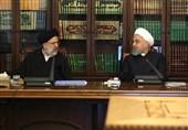 پاسخ رئیسی به اظهارات روحانی: با سیاسیکاری و دوقطبیسازی مبارزه با فساد را ترک نمیکنیم