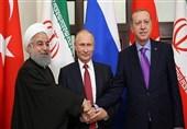 آغاز پنجمین نشست رؤسای جمهوری ایران، روسیه و ترکیه