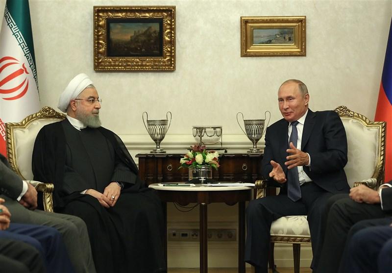پوتین در دیدار با روحانی: روسیه متعهد به ادامه همکاری دفاعی، نظامی و هستهای با ایران است