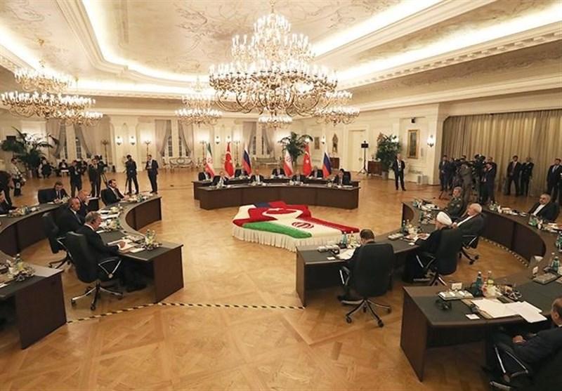 گزارش  طرح مسائل مهم منطقهای در کنفرانس مطبوعاتی در پایان نشست سران روسیه-ایران-ترکیه