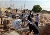 عملیات بازسازی در روستای سیلزده با کمکهای مردم و طلاب هندی + تصاویر