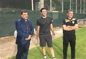حضور علی محمدی در تمرین فولاد خوزستان