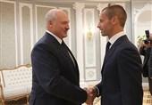 دیدار رئیس یوفا با رئیسجمهور بلاروس در مینسک