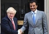 دیدار امیر قطر با نخستوزیر انگلیس در لندن