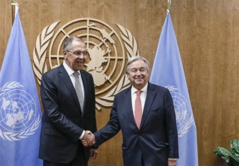 مذاکرات تلفنی لاوروف و دبیرکل سازمان ملل