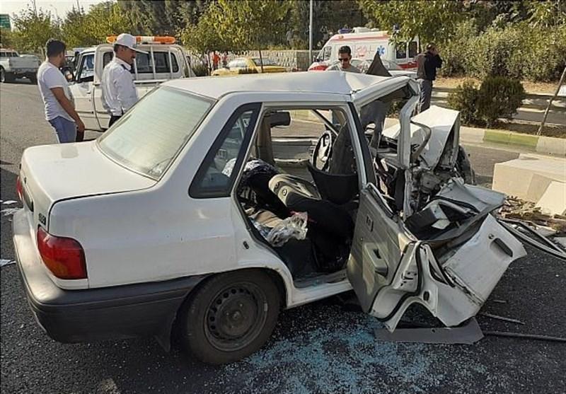تهران| تصادف خونین پراید با وانت + تصاویر