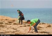پاکسازی ساحل و دریا به مناسبت روز جهانی پاکسازی سواحل -کیش