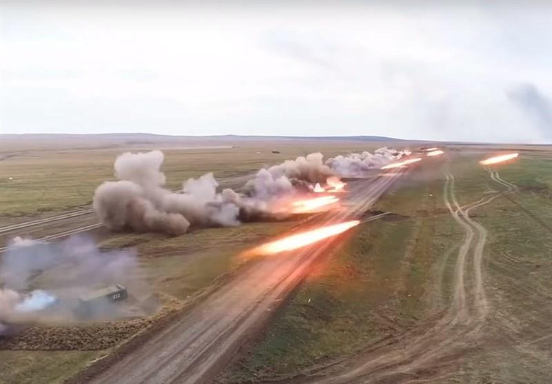 شلیک آتشبار سنگین روسیه در جریان مانور «سنتر-2019» + فیلم