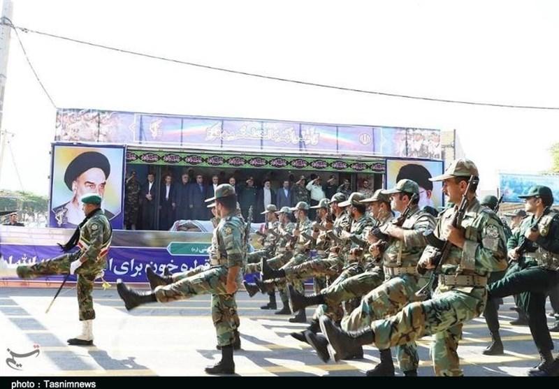 رژه نیروهای مسلح در خرمآباد بهروایت تصاویر
