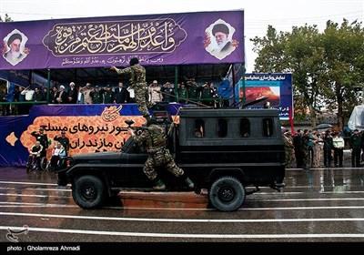 مراسم رژه نیروهای مسلح استان در نخستین روز هفته دفاع مقدس درمازندران