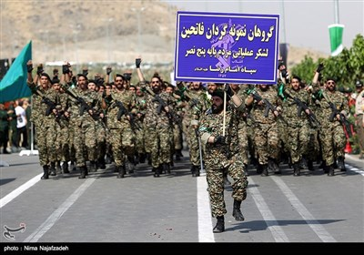 مراسم رژه نیروهای مسلح استان در نخستین روز هفته دفاع مقدس در مشهد