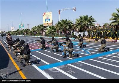 عنوان مراسم رژه نیروهای مسلح استان در نخستین روز هفته دفاع مقدس در یزد