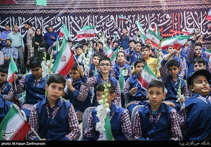 """زنگ """"دانش آموز شهید"""" در گلزار شهدای تهران نواخته شد+عکس"""