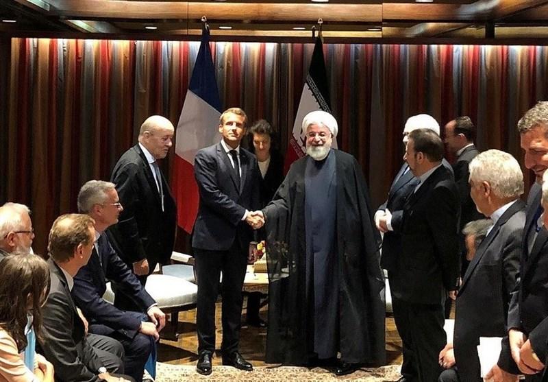 روحانی در دیدار مکرون از بیانیه ضدایرانی سه کشور اروپایی انتقاد کرد