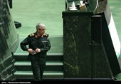 سرلشگر باقری رئیس ستاد کل نیروهای مسلح در جلسه علنی مجلس شورای اسلامی