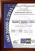 """دریافت استاندارد جهانی ISO/ICE 20000-1:20011 توسط """" به پرداخت ملت """""""