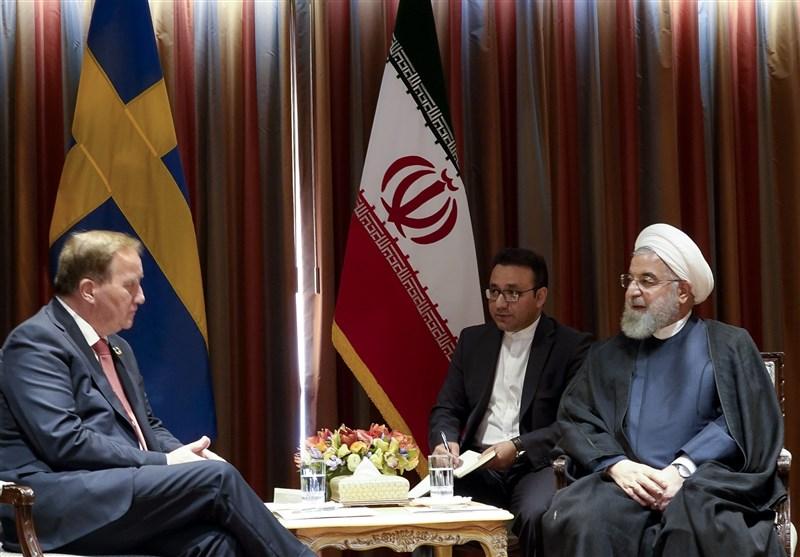 رایزنی روحانی با نخست وزیر سوئد درباره مسائل دو جانبه و بین المللی