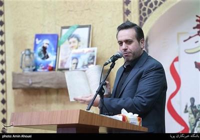 مجید یراقبافان مجری مراسم یادواره ۲۶۶ شهید محله ستارخان