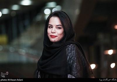 ملیکا شریفی نیا در اکران خصوصی فیلم سینمایی درخونگاه در پردیس ملت