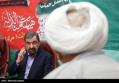 محسن رضایی دبیر مجمع تشخیص مصلحت نظام در جلسه هم اندیشی بزرگداشت یوم الله 13 آبان
