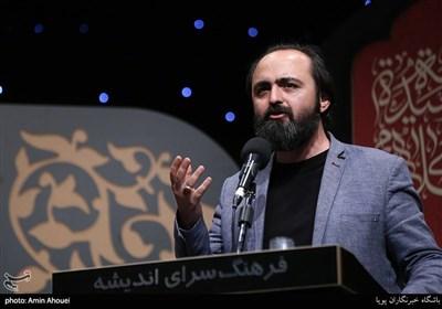 شعرخوانی محمود حبیبی کسبی در شب شعر و مرثیه خوانی بر آستان اشک