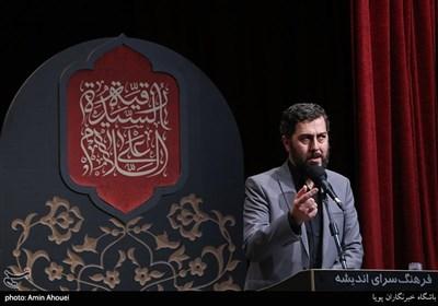 احمد بابایی شاعر در شب شعر بر آستان اشک