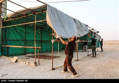 آمادهسازی مواکب خدمت رسانی به زائرین اربعین حسینی-شلمچه
