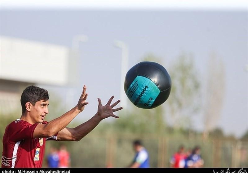 حضور محمد نادری در تمرین استقلال + عکس