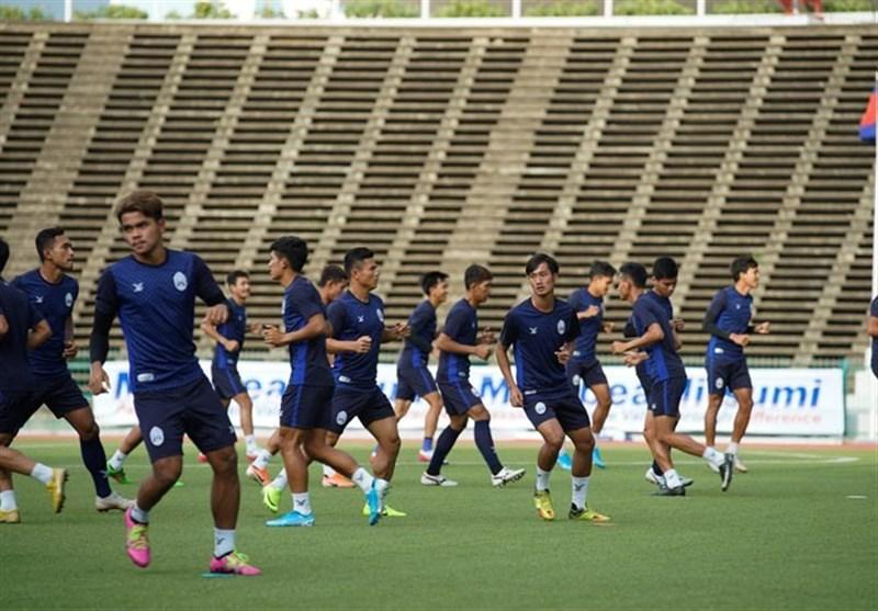 گزارش تمرین تیم ملی کامبوج| توجه ویژه به هوندا و تذکر نماینده فیفا