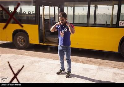 مراسم استقبال از حافظ قشقایی قهرمان وزنه برداری جهان در فرودگاه شهید اشرفی اصفهانی