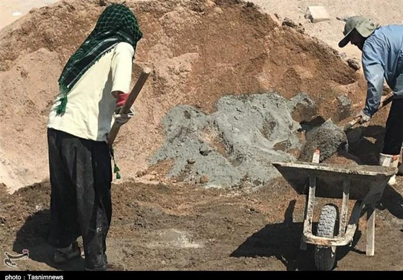 تلاش جهادگران دزفول برای ساخت منازل سیلزدگان استان خوزستان به روایت تصویر