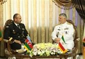 امیر خانزادی در دیدار فرمانده نیروی دریایی آذربایجان: هیچ دغدغهای در دریای خزر نداریم