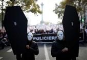 تظاهرات پلیس فرانسه در اعتراض به وضعیت نامناسب شغلی